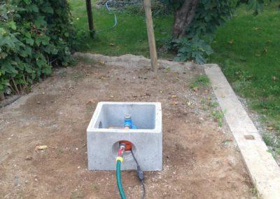Installation d'un regard pour un forage / pompe à eau (Savoie, Haute-Savoie)