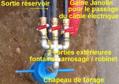 Installation de sortie d'un forage à Grenoble (Isère)