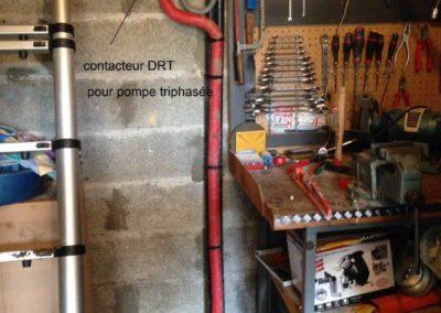Pompe à eau triphasée (forage à Valence, Drôme)