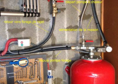 Schéma de raccordement Forage - Pompe à chaleur (Valence, 26, Drôme)