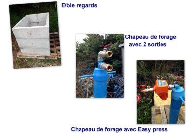 Niche compteur d'eau et chapeau de forage: Matériel pour source d'eau / forage eau (Drôme, Ardèche)